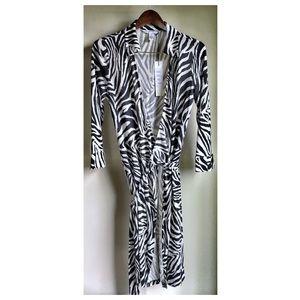 DVF wrap dress zebra size 10 NWT